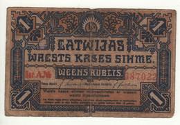 LATVIA  1 Rublis    P1   1919 - Latvia
