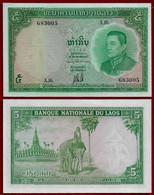 LAOS BANKNOTE - 5 KIP 1962 P#9b UNC (NT#02) - Laos