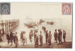 CPA Comores Carte Photo Amateur L'embarquement Du Sucre - Comoros