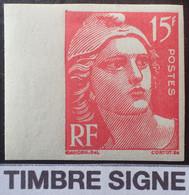 R1491/192 - 1949 - TYPE MARIANNE DE GANDON - N°813 NEUF* BdF Timbre Signé - Ongetand