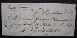 Chavenat Charente 1848 Boîte Rurale L Cad La Valette Lettre Pour Le Maire De Sainte Anne (?) à Eymoutiers Haute Vienne - 1801-1848: Precursores XIX