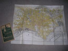 Nouveau Guide Pour Visiter Marseille Et Ses Environs Avec Une Carte Plan 1926 ? Etat Correct - Tourism Brochures
