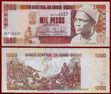 GUINEA-BISSAU BANKNOTE - 1000 PESOS 1993 P#13b AU (NT#02) - Guinea-Bissau