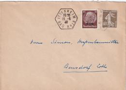 ALSACE-LORRAINE 1940 LETTRE DE ITTENHEIM - Alsace Lorraine