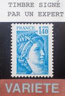 Dpe/5 - 1977/1978 - TYPE SABINE DE GANDON - N°1975b NEUF** LUXE - VARIETE ➤➤➤ Sans PHO / Signé CALVES Expert - Varieties: 1970-79 Mint/hinged