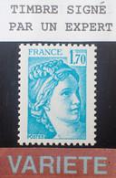 Dpe/6 - 1977/1978 - TYPE SABINE DE GANDON - N°1976b NEUF** LUXE - VARIETE ➤➤➤ Sans PHO / Signé CALVES Expert - Varieties: 1970-79 Mint/hinged