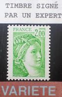 Dpe/7 - 1977/1978 - TYPE SABINE DE GANDON - N°1977b NEUF** LUXE - VARIETE ➤➤➤ Sans PHO / Signé CALVES Expert - Varieties: 1970-79 Mint/hinged