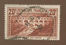 262 ØPont Du Gard  Cote 50,-€ Mini Chichi. (certains Ne Verront Rien) - Used Stamps