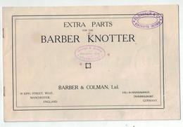 Barber Knotter - Manchester Dusseldorf George A. Mason Elsässer Kirchberg Berne - Machines