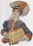 Découpis Chromo Besançon Magasin à La Samaritaine Femme Chapeau Format 9 X 13 Cm - Unclassified