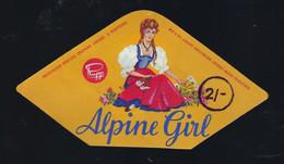 """Ancienne Etiquette Fromage  Autriche Alpine Girl """"Rupp"""" """"Femme, Costume Traditionnel"""" A Voir! - Kaas"""
