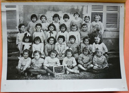 PHOTO CLASSE WASSY - 52 - ECOLE FILLES En 1951  - 4 SCANS - Scuole