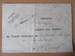 Préphilatélie - Ministère De L'Instruction Publique GRIFFE + Cachet Rouge Franchise Vérifiée Sur Enveloppe - 1839 - 1801-1848: Vorläufer XIX