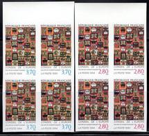 FRANCE (1994) Hundertwasser Paintings. Scott Nos 2O51-2, Yvert Nos S112-3. Margin Bl/4 MNH - Non Dentellati