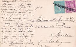 """1939 - MARITIME / CRETE - GRIFFE LINEAIRE """"PAQUEBOT"""" Sur MERCURE - CARTE De CNOSSE => MEUDON - Schiffspost"""