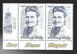 France 2021 - Simone De Beauvoir ** - Ungebraucht