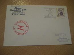 BODENWERDER FGS Motorschiff Fluvial River Riverboat Ship Cover HAMELN 1990 Music Cancel GERMANY - Ships