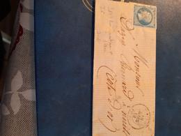 LAC Au Tarif  1862 Pour Cote D'or MONTROUGE Pc  2147 Bis Indice 6 25.00 - 1849-1876: Classic Period