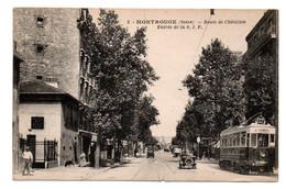 Montrouge - Route De Chatillon - Entrée De La S . I . F - Tramway  - CPA°W - Montrouge