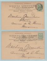 Briefkaart Henri Mertens, Maçonnerie, Menuiserie, Charpenterie Molenbeek Naar Brussel ( Bruxelles Porte De Flandres) - Documentos Del Correo