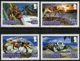 BIOT, 2004, MARINE FAUNA, CRABS, YV#301-04, MNH - British Indian Ocean Territory (BIOT)