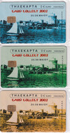 GREECE - Set Of 3 Cards, Card Collect 2002, Exhibition In Thessaloniki, Tirage 1000, 05/02, Mint - Collections