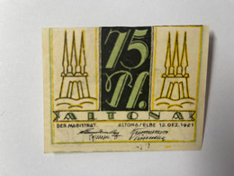 Allemagne Notgeld Altona 75 Pfennig - Collezioni
