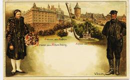 10329 - Allemagne  - GRUSS Aus  ALTENBURG  Illustrateur :  JACOBI  (disparu ??) Superbe Lithographie Circulée En 1899 - Altenburg