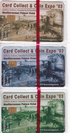 GREECE - Puzzle Of 3 Cards, Card Collect 2003, Exhibition In Thessaloniki, Tirage 1000, 01/03, Mint - Collections
