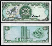 TRINIDAD AND TOBAGO BANKNOTE - 5 DOLLARS (1985) P#37c AU (NT#02) - Trinidad & Tobago