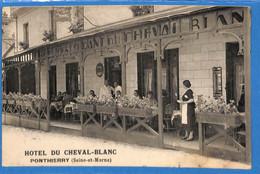 77 - Seine Et Marne - Ponthierry - Hotel Du Cheval Blancce  (N3768) - Andere Gemeenten