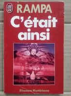 Rampa - C'était Ainsi / J'ai Lu,1988 - Autres