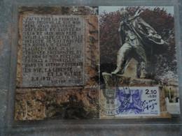 CARTE MAXIMUM CARD STATUE DE VICTOR HUGO A THIONVILLE FRANCE - Writers