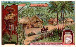 CHROMO LIEBIG - Pays Equatoriaux Bornéo Série Française N°1054 F) - Année 1912 TB.Etat - Liebig