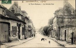 CPA Pont L'Évêque Calvados, La Grande Rue, Straßenpartie - Other Municipalities