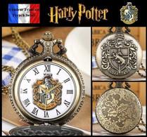 Montre Gousset NEUVE ! ( Pocket Watch ) - Harry Potter Poufsouffle Hufflepuff ( A2 ) - Taschenuhren
