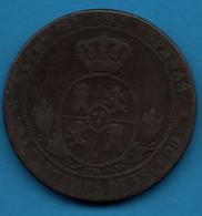 ESPANA 2½ Centimos De Escudo  1867  KM# 634 Isabelle II - First Minting