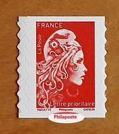 2021 - Y/T 1599 Type II - Marianne L'engagée Tarif Prioritaire (mention Philaposte Au Lieu De Phil@poste) AA - ** - Nuovi
