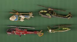 HELICOPTERE *** Lot De 4 Pin's Differents *** 5011 - Vliegtuigen