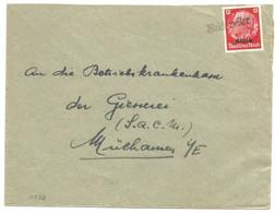 V538 - REICHWEILER - 1940 - RICHWILLER - Griffe Caoutchouc Provisoire - Gummistempel - Haut Rhin - - Alsace Lorraine