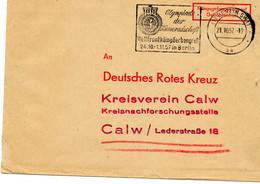 "ALLEMAGNE.1957.FRANCHISE PRISONNIERS DE GUERRE.CROIX-ROUGE.""OLYMPIADE DER KAMERADSCHAFT"". - Red Cross"