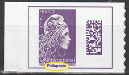2021 - Y/T 1656A Type II - Marianne L'engagée International (mention Philaposte Au Lieu De Phil@poste) AA ISSU CARNET ** - Nuovi