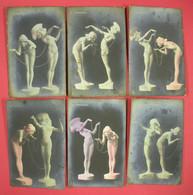 1908 RRRARE Raphael Kirchner 6 Carte-photos Farfadets éditeur Raphael Tuck Série2286 Paris Dos Scanné Voir état - Kirchner, Raphael