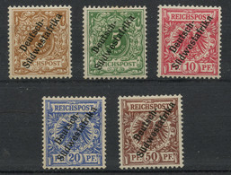 Afrique Du Sud Ouest Colonie Allemande (1897) N 7 A 12 (charniere) Sauf 11 - Colony: German South West Africa