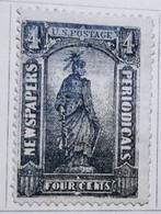 Etats-Unis_1875-85_ Timbres Pour Journaux_ Y&T N°8, 4c. Noir - Neuf - Giornali & Periodici