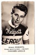 S11-013 Chicorée Leroux - Helyett - Jacques Anquetil - Cycliste - Ciclismo