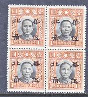 China  Occupation  NORTH  CHINA  8N 21    ** - 1941-45 Noord-China