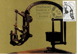 CM FRANCE JOURNEE DU TIMBRE 1985 MACHINE A OBLITERER - 1980-89