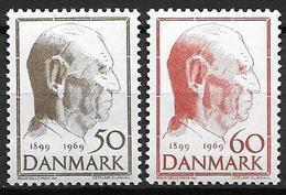 Danemark 1969 N° 488/489 Neufs** 70 Ans Du Roi Frédérik IX - Ungebraucht