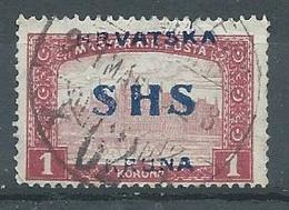Yougoslavie YT N°22 Parlement De Budapest Surchargé Hrvatska SYHS Kruna Oblitéré ° - Used Stamps
